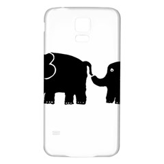 Elephant And Calf Samsung Galaxy S5 Back Case (White)
