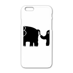 Elephant And Calf Apple iPhone 6/6S White Enamel Case