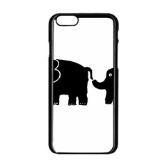 Elephant And Calf Apple iPhone 6/6S Black Enamel Case