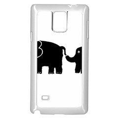 Elephant And Calf Samsung Galaxy Note 4 Case (White)