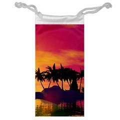Wonderful Sunset Over The Island Jewelry Bags
