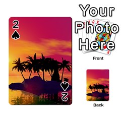Wonderful Sunset Over The Island Playing Cards 54 Designs