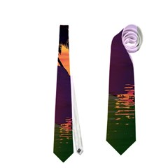 Wonderful Sunset Over The Island Neckties (One Side)