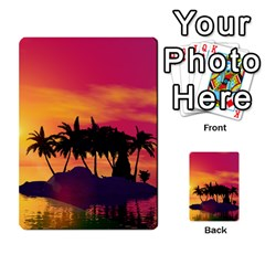Wonderful Sunset Over The Island Multi Purpose Cards (rectangle)