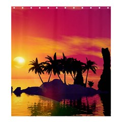 Wonderful Sunset Over The Island Shower Curtain 66  X 72  (large)