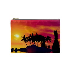 Wonderful Sunset Over The Island Cosmetic Bag (Medium)