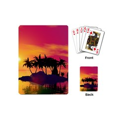 Wonderful Sunset Over The Island Playing Cards (Mini)