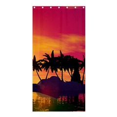 Wonderful Sunset Over The Island Shower Curtain 36  x 72  (Stall)