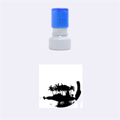 Wonderful Sunset Over The Island Rubber Round Stamps (small)