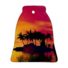 Wonderful Sunset Over The Island Bell Ornament (2 Sides)