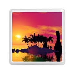 Wonderful Sunset Over The Island Memory Card Reader (Square)