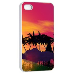 Wonderful Sunset Over The Island Apple iPhone 4/4s Seamless Case (White)
