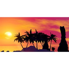 Wonderful Sunset Over The Island YOU ARE INVITED 3D Greeting Card (8x4)