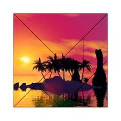 Wonderful Sunset Over The Island Acrylic Tangram Puzzle (6  x 6 )