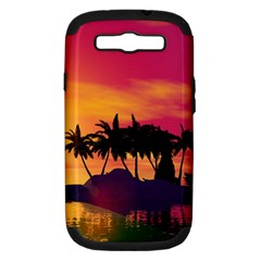 Wonderful Sunset Over The Island Samsung Galaxy S III Hardshell Case (PC+Silicone)