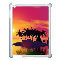 Wonderful Sunset Over The Island Apple iPad 3/4 Case (White)