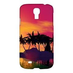 Wonderful Sunset Over The Island Samsung Galaxy S4 I9500/I9505 Hardshell Case