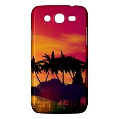 Wonderful Sunset Over The Island Samsung Galaxy Mega 5.8 I9152 Hardshell Case