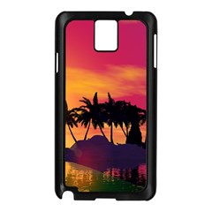 Wonderful Sunset Over The Island Samsung Galaxy Note 3 N9005 Case (Black)