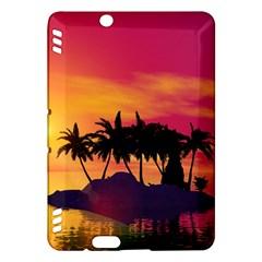 Wonderful Sunset Over The Island Kindle Fire HDX Hardshell Case
