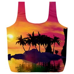 Wonderful Sunset Over The Island Full Print Recycle Bags (l)
