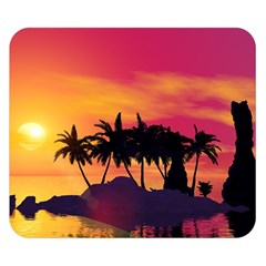 Wonderful Sunset Over The Island Double Sided Flano Blanket (small)