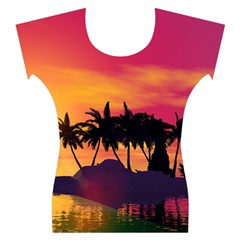 Wonderful Sunset Over The Island Women s Cap Sleeve Top