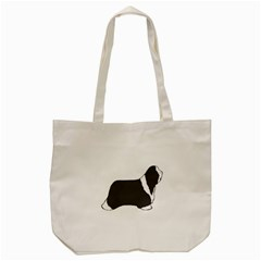 Bearded Collie color silhouette Tote Bag (Cream)