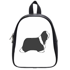 Bearded Collie color silhouette School Bags (Small)