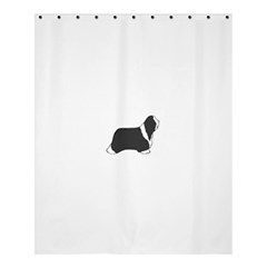 Bearded Collie Color Silhouette Shower Curtain 60  X 72  (medium)