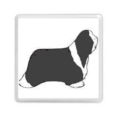 Bearded Collie color silhouette Memory Card Reader (Square)