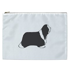 Bearded Collie color silhouette Cosmetic Bag (XXL)