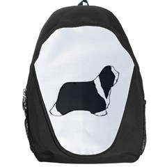 Bearded Collie color silhouette Backpack Bag