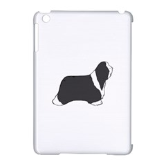 Bearded Collie color silhouette Apple iPad Mini Hardshell Case (Compatible with Smart Cover)