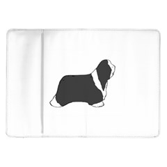 Bearded Collie color silhouette Samsung Galaxy Tab 10.1  P7500 Flip Case