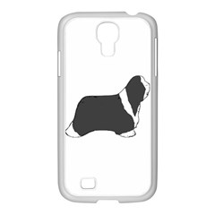 Bearded Collie color silhouette Samsung GALAXY S4 I9500/ I9505 Case (White)