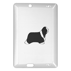 Bearded Collie color silhouette Kindle Fire HD (2013) Hardshell Case