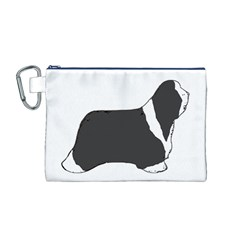 Bearded Collie color silhouette Canvas Cosmetic Bag (M)