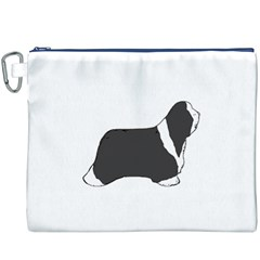 Bearded Collie color silhouette Canvas Cosmetic Bag (XXXL)