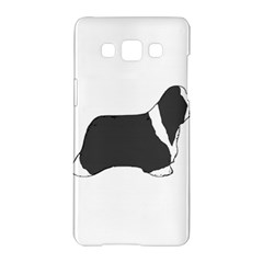 Bearded Collie color silhouette Samsung Galaxy A5 Hardshell Case