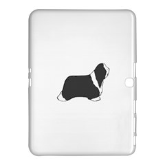 Bearded Collie color silhouette Samsung Galaxy Tab 4 (10.1 ) Hardshell Case