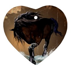 Beautiful Horse With Water Splash Ornament (Heart)