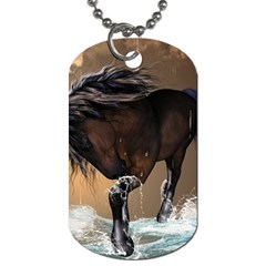 Beautiful Horse With Water Splash Dog Tag (Two Sides)