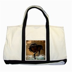 Beautiful Horse With Water Splash Two Tone Tote Bag