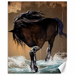 Beautiful Horse With Water Splash Canvas 16  x 20