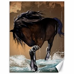 Beautiful Horse With Water Splash Canvas 18  x 24