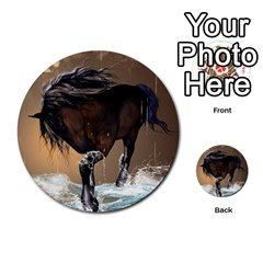 Beautiful Horse With Water Splash Multi Purpose Cards (round)