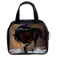 Beautiful Horse With Water Splash Classic Handbags (2 Sides)