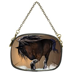 Beautiful Horse With Water Splash Chain Purses (One Side)