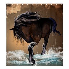 Beautiful Horse With Water Splash Shower Curtain 66  X 72  (large)
